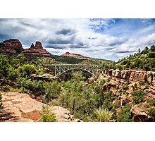 Sedona - Midgley Bridge & Wilson Canyon Photographic Print