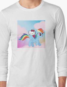Hello Kitty & Rainbow Dash! Long Sleeve T-Shirt