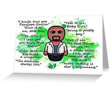 Agent Derek Morgan Greeting Card