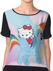 Hello Kitty & Rainbow Dash! Chiffon Top
