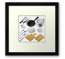 Kitchen tools Framed Print