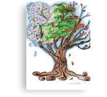 Magnolia's Seasons Canvas Print