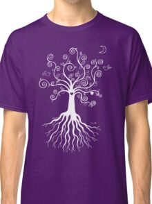 Tree of Life - white on pale blue Classic T-Shirt