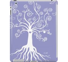 Tree of Life - white on pale blue iPad Case/Skin
