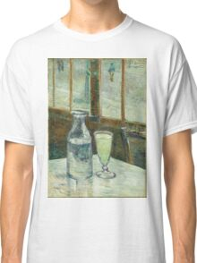 Vincent Van Gogh - Cafe Table With Absinth. Cafe view: drinking and eating party, woman and man, people, family, female and male, peasants, cafe, romance, women and men, restaurant, food Classic T-Shirt