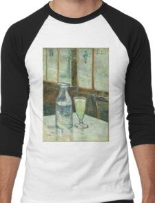 Vincent Van Gogh - Cafe Table With Absinth. Cafe view: drinking and eating party, woman and man, people, family, female and male, peasants, cafe, romance, women and men, restaurant, food Men's Baseball ¾ T-Shirt