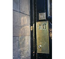 Glasgow School of Art Entrance Photographic Print