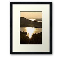 Burning River - Nature Photography Framed Print
