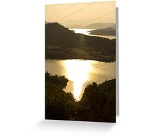 Burning River - Nature Photography Greeting Card