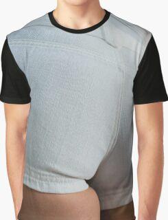 White Denim Derriere  Graphic T-Shirt