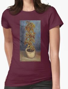 Vincent Van Gogh - Flame Nettle In A Flowerpot. Still life with flowers: blossom, nature, botanical, floral flora, wonderful flower, plants, cute plant for kitchen interior, garden, vase Womens Fitted T-Shirt