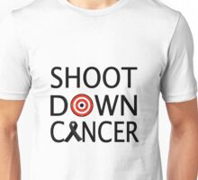 Skin Cancer Awareness Ribbon Shoot Down Cancer Bullseye Unisex T-Shirt