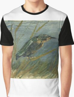Vincent Van Gogh - Kingfisher By The Waterside. Bird painting: cute fowl, fly, wings, lucky, pets, wild life, animal, birds, little small, bird, nature Graphic T-Shirt