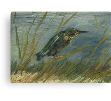 Vincent Van Gogh - Kingfisher By The Waterside. Bird painting: cute fowl, fly, wings, lucky, pets, wild life, animal, birds, little small, bird, nature Canvas Print