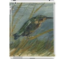 Vincent Van Gogh - Kingfisher By The Waterside. Bird painting: cute fowl, fly, wings, lucky, pets, wild life, animal, birds, little small, bird, nature iPad Case/Skin