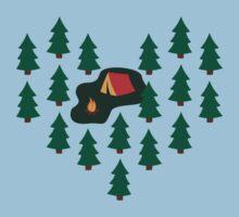 Deep Wild Forest - Part II - Camping Kids Tee