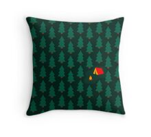 Deep Wild Forest - Part II - Camping Throw Pillow