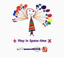 Play in Space-time Women's Fitted V-Neck T-Shirt