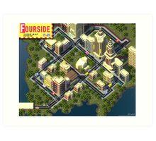 EarthBound Fourside Map Art Print