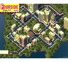 EarthBound Fourside Map Photographic Print