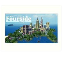 Fourside Advertisement Poster Art Print