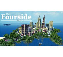 Fourside Advertisement Poster Photographic Print