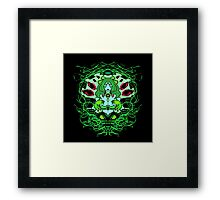 Into her web- Green Variant Framed Print