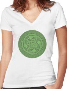 Scylla - Horror Of The Sea Women's Fitted V-Neck T-Shirt