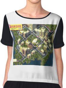 EarthBound Fourside Map Chiffon Top
