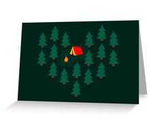 Deep Wild Forest - Part II - Camping Greeting Card