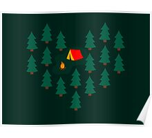 Deep Wild Forest - Part II - Camping Poster