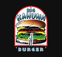 Big KAHUNA Burger - White Background on Black Variant Womens Fitted T-Shirt