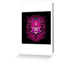 Into her web- Pink Variant Greeting Card
