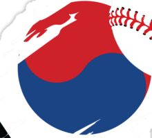 Korean Baseball Flag Sticker