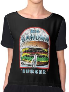 Big KAHUNA Burger - Distressed Variant Chiffon Top