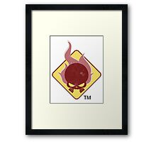 Fire Hazard Entertainment Logo Framed Print