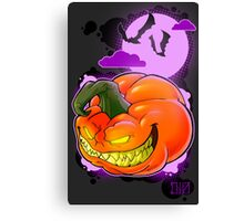 Evil Pumpkin Canvas Print