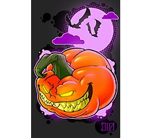 Evil Pumpkin Photographic Print