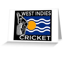 West Indies Cricket Greeting Card