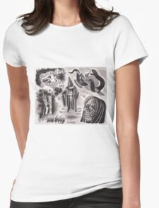 Original The Body Watercolor Tattoo Flash Painting Womens Fitted T-Shirt