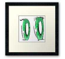 Green Anime Eyes Framed Print