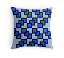 Pixeled Blues Infusion Throw Pillow
