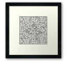 pencil parcels silver mint Framed Print