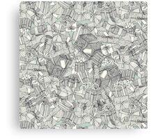 pencil parcels silver mint Canvas Print