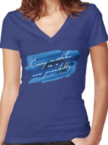 Barry Grump Quote Women's Fitted V-Neck T-Shirt