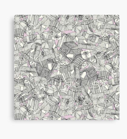 pencil parcels pink Canvas Print