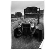Old Chevrolet Truck I BW Poster