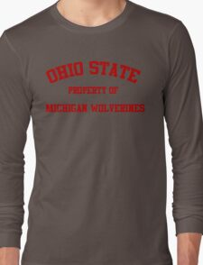 Michigan - Ohio State Rivalry Long Sleeve T-Shirt