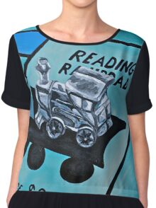 Take a ride on the reading  Chiffon Top