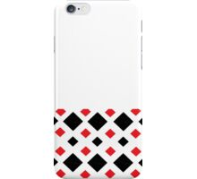 black and red diamond pattern iPhone Case/Skin